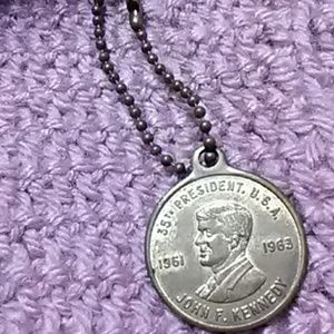 Used, John F.Kennedy vintage  coin keychain for sale